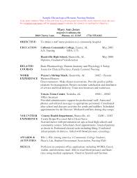 example student nurse resume sample nursing school cover letters for nursing job application pdf nursing samplenursing get resume