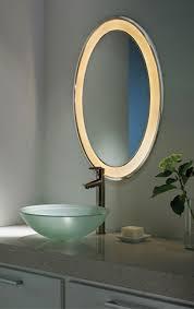 tigris oval recessed mirror bathroom lighting design