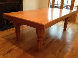 7ft dining table: ft oak snooker dining table with straight turned legs view view