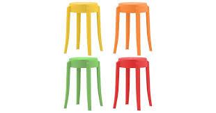 <b>Stackable Stools 4 pcs</b> Multicolour Plastic - Kogan.com