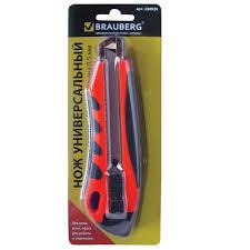 <b>Нож канцелярский BRAUBERG 18</b> мм, + 2 лезвия — купить в ...
