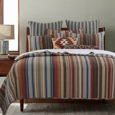 designer living bedding modern fashion d striped greenland home fashions durango  percent cotton quilt set