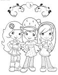 Шарлотта земляничка и её друзья раскраска