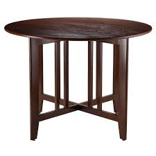 wood extendable dining table walnut modern tables: amazoncom winsome wood alamo double drop leaf round table mission  inch tables