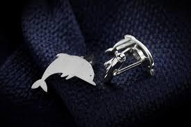 <b>925 sterling silver dolphin</b> cufflinks
