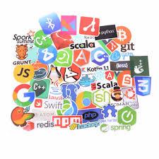 <b>50pcs</b> Internet Java Js Programming Language <b>Doodle</b> Stickers For ...