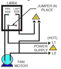 how to install and wire the honeywell lb combination furnace honeywell l4064b limit wiring when controlling line voltage 120v or 240v control installation notes