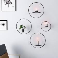 <b>NEW Nordic Style</b> Candlestick Metal Wall Candle Holder Geometric ...
