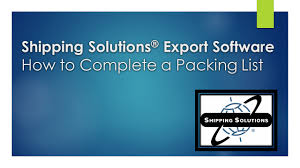 how to create an export packing list video