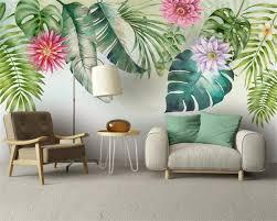 <b>Beibehang</b> Custom wallpaper Nordic <b>fresh</b> green leaves <b>watercolor</b> ...