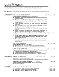 Example Resume  Objectives For Teaching Resume  objectives for     Binuatan
