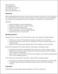 Budget Analyst Resume Example  Accounting Clerk Accounting And Finance Example Financial Analyst Resume Free Sample Entry Level     happytom co