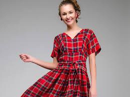 <b>Платье в клетку</b>: актуальные фасоны и модели   Мода от Кутюр.Ru
