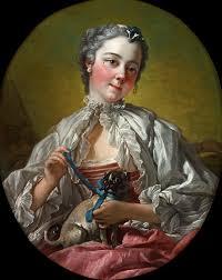 «<b>Девушка с мопсом</b>» картина - Франсуа Буше