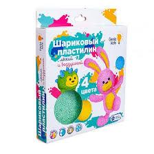 <b>Набор</b> для лепки <b>Genio Kids</b>-<b>Art</b> Шариковый <b>пластилин</b> 4 цвета ...