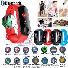 M3 <b>Smart Band Watch Bracelet</b> Wristband Fitness Tracker Blood ...