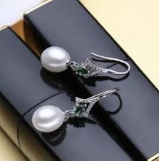 [YKIN] 8-9mm 9-10mm Big Natural White Pearl Studs Earrings ...