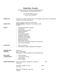 resumes for dental assistant template resumes for dental assistant