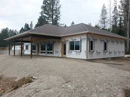 The Bow Manor   Efficient and Affordable Spokane House Plans and    Bow Manor house plan back patio
