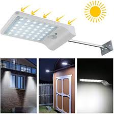 LEDMO <b>Solar Lights</b> Garden Motion Sensor <b>Outdoor</b> Wireless ...