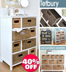 white storage unit wicker: tetbury large storage unit with wicker basketsbathroom storage hallway storage ebay