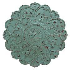mirror wall decor circle panel: sea foam medallion wall daccor stratton home decor sea foam medallion wall dcacor