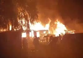 В Пензенской области случился крупный пожар в цыганском ...