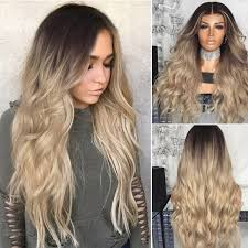 Gradient <b>Wave Curls</b> Afro <b>Fashion Women's</b> Mixed Color Hair ...
