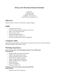office secretary resume objective cipanewsletter cover letter sample resume secretary medical secretary sample