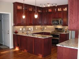 wood kitchen cabinets rustic theme stainless