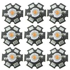 50PCS <b>3W</b> BridgeLux High Power <b>full spectrum 400nm 840nm</b> LED ...