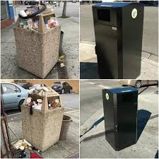 trash cans default: in the past some of you may have noticed that many of the public garbage cans on middlefield road would constantly be overflowing with trash and looked