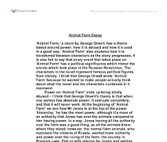 essay for animal farm  doitmyfreeipme how is animal farm an allegory essay types of validity in symbolic narrative in this list