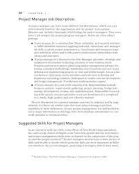 introduction to project management    c h a p t e r  project manager job description