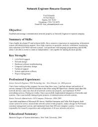 network engineer resume info networking resume network engineer resume sample job and resume