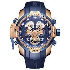<b>Reef Tiger</b>/<b>Rt</b> Top Brand Luxury <b>Sport</b> Watch Men Rose Gold <b>Military</b> ...