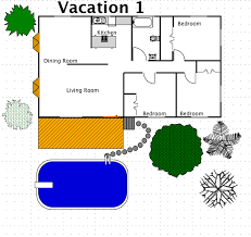 Vacation House Style    A FREE Ez Architect Floor Plan for Windows