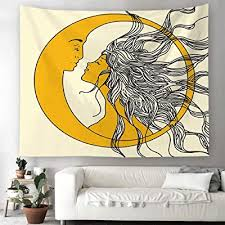 Buy <b>SOFTBATFY</b> Aesthetic Abstract Art Wall Tapestry for Living ...