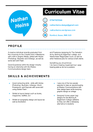 cv nathan heins graphic design cv