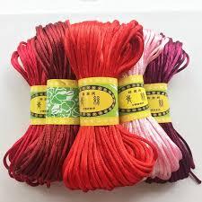 Compare <b>TYRY</b>.<b>HU Colorful 45</b> Meters Satin Silk Rope Nylon Cord ...