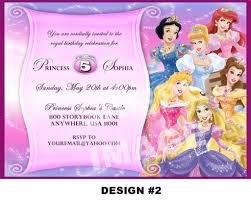 disney princess for girl birthday invitations ideas bagvania 5th disney princess birthday invitations