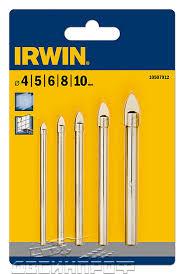 10507912 <b>Сверла по стеклу</b> и плитке <b>набор</b> 5 шт (4,5,6,8,10 мм ...