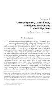 unemployment labor laws and economic policies in the inside