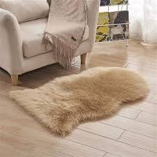 Online Shop Urijk <b>Rectangle Soft</b> Sheepskin Fluffy Area Rug Faux ...