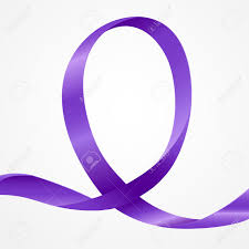 awareness purple ribbon background template copy space awareness purple ribbon background template copy space for cover page or advertisement design