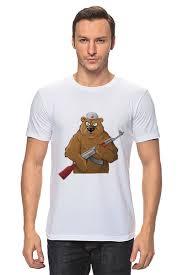 Футболка классическая <b>Russian</b> Bear AK-47(Русский медведь с ...