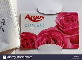 Argos gift voucher with giftcard receipt gift card Stock Photo - Alamy