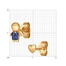 <b>Асимметричные серьги</b>-гвоздики из золота SOKOLOV – купить в ...