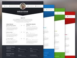 best free creative resume templates  updated free resume template psd   color