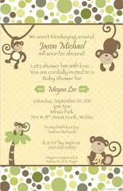 printable monkey baby shower invitations bestpickr personalized jungle monkey baby shower invitation 100851008510085 com